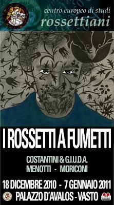 Manifesto_Mostra I ROSSETTI A FUMETTI